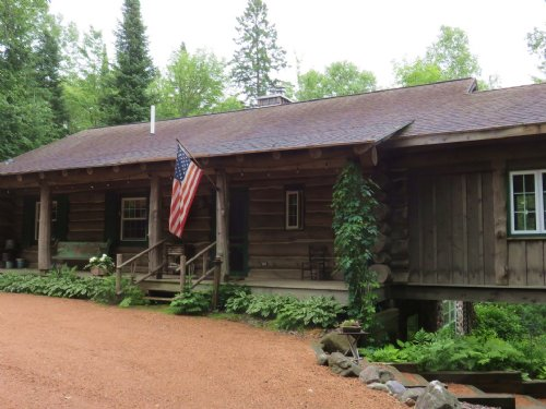 Full Log Home On Prime Waterfront : Presque Isle : Vilas County : Wisconsin