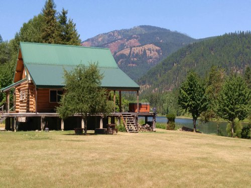 Kootenai Riverfront Home : Libby : Lincoln County : Montana