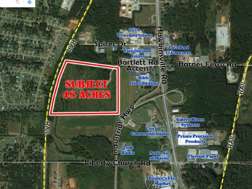 48 Acres Bartlett Rd : Macon : Bibb County : Georgia