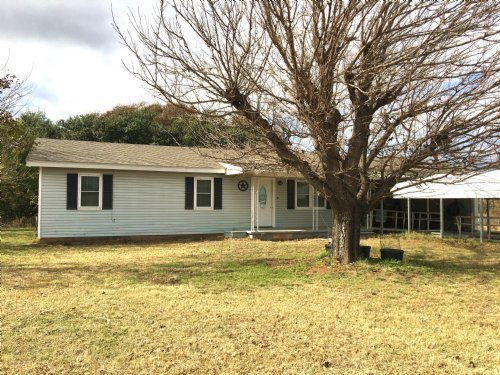 Home On Acreage With Creek : De Leon : Erath County : Texas
