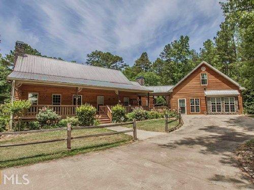 Log Cabin Home On Over 8 Acres : Buckhead : Morgan County : Georgia