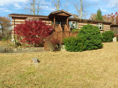 2br 1.5ba Log Home On 3.4± Ac : Sparta : Cumberland County : Tennessee