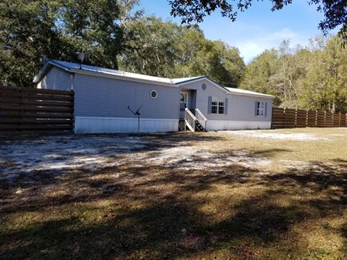 Immaculate Mh On 4.94 Acres 773062 : Chiefland : Levy County : Florida