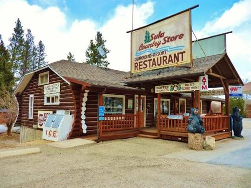 The Sula Store, Cabins, Rv Park - W : Darby : Ravalli County : Montana