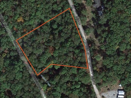Private Mountain Lot With Stream On : Cleveland : Pickens County : South Carolina