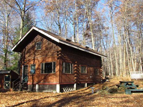 78 Acres Log Cabin Skaneateles Lake : Scott : Cortland County : New York