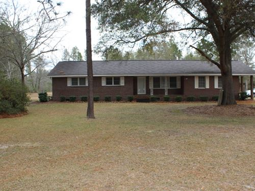 Home With 64Acs In Millen : Millen : Jenkins County : Georgia