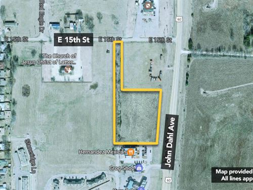Approx 4.1Ac Vacant Commercial L : Pawhuska : Osage County : Oklahoma