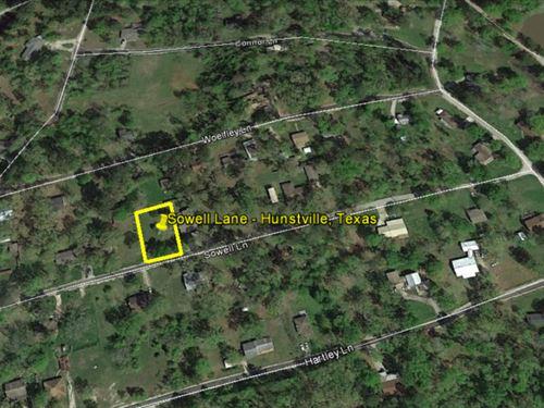 Lot 1/4 Mile From Lake Livingston : Huntsville : Walker County : Texas
