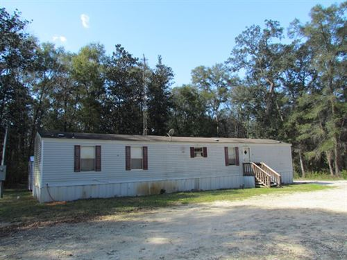 2/2 Mobile Home On 3.47 Ac 773231 : Old Town : Dixie County : Florida