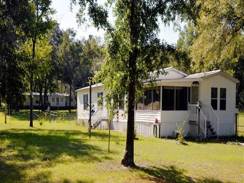 Two Homes On Acreage In North Fl : Lake City : Suwannee County : Florida