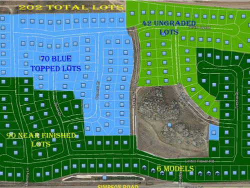 202 Lot Ready-To-Build Subdivision : Riverside County : California