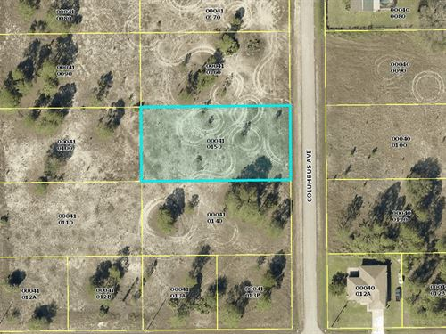 Residential 0.5 Acre Lot For Sale : Lehigh Acres : Lee County : Florida