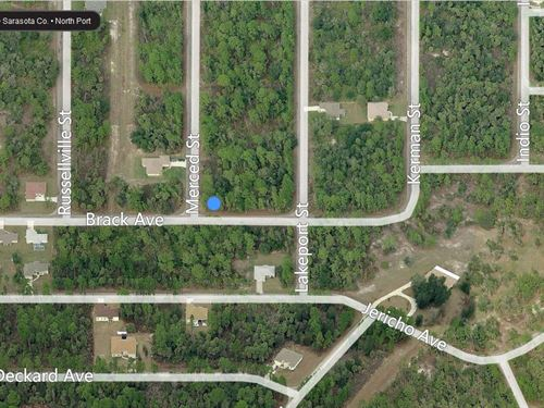 Land For Sale In Sarasota County : North Port : Sarasota County : Florida