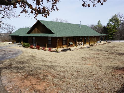Log Home And Acreage Auction : Meeker : Lincoln County : Oklahoma