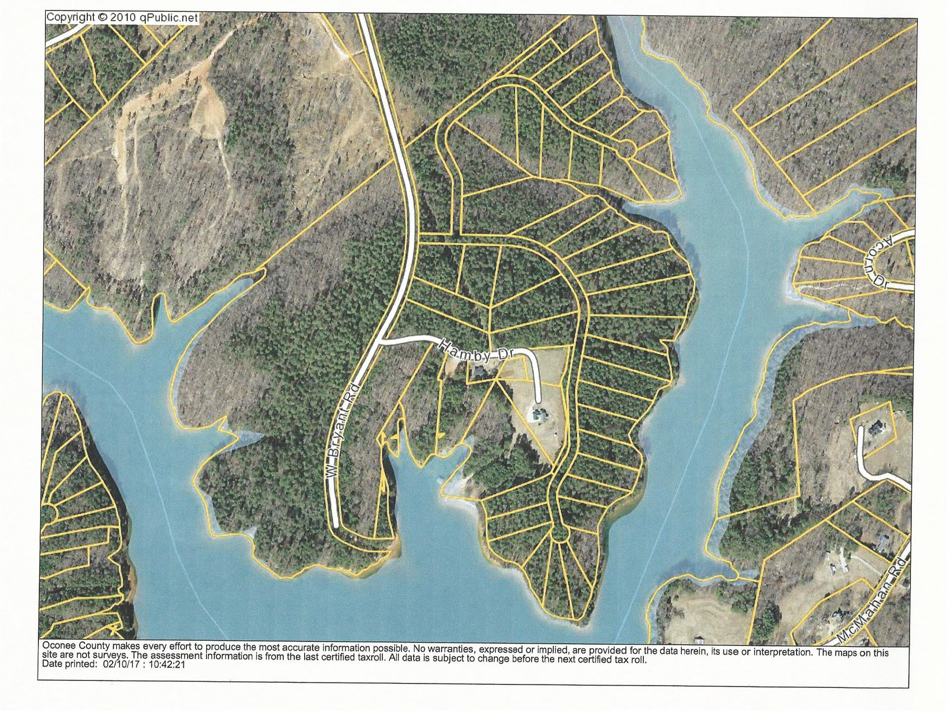 Sunset Cove Lake Lot Land For Sale West Union Oconee County