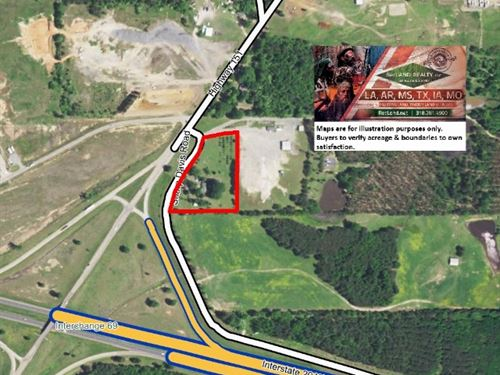 4 Ac - Commercial Site On Interstat : Arcadia : Bienville Parish : Louisiana