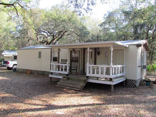3/2 Mobile Home On 3.41 Ac 773278 : Trenton : Levy County : Florida