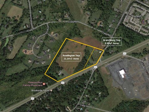 25+/- Acres Of Land With 3 Br Home : Neshanic Station : Hunterdon County : New Jersey
