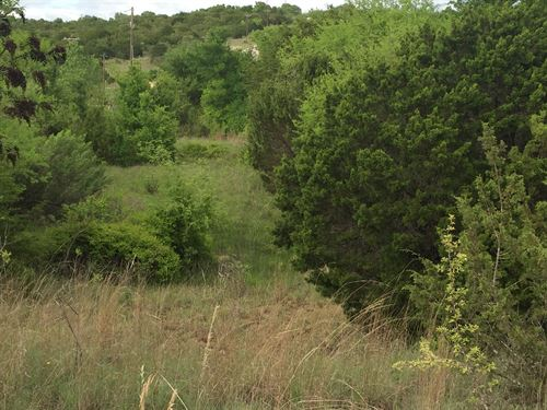 Scenic 1+ Acre Lot By Fishing Lake : Bluff Dale : Erath County : Texas