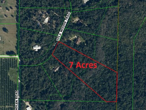 Iola Woods 7 Acres Private Wooded : Dade City : Pasco County : Florida