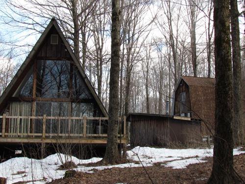 13 Acre 2 A-Frame Homes Cortland Ny : Lincklaen : Chenango County : New York