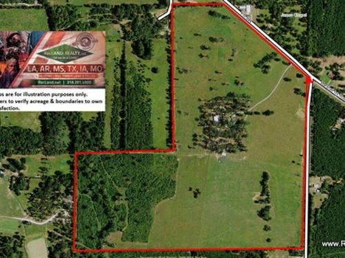 122 Ac - Log Home & Ranch Near : Huntington : Angelina County : Texas