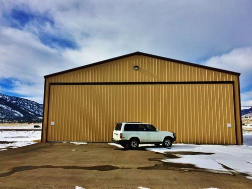 Creede Colorado Airplane Hanger : Creede : Mineral County : Colorado