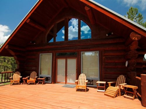 Log Home In Quiet Location : Lake City : Hinsdale County : Colorado