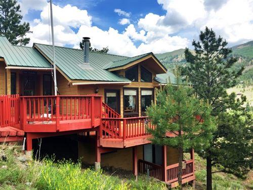 Hillside Home In San Juan Springs : Lake City : Hinsdale County : Colorado