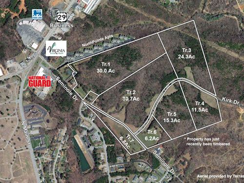 124 Acres In The City Of Danville : Danville : Danville City County : Virginia