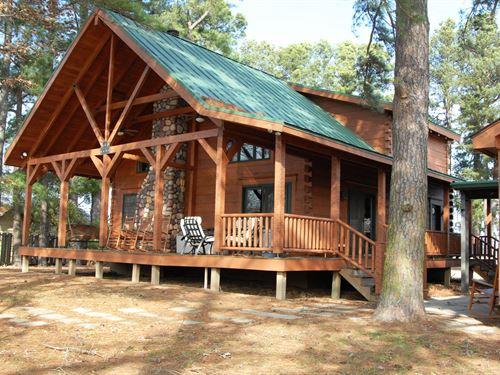 Log Cabin On East Lake : Holly Grove : Monroe County : Arkansas