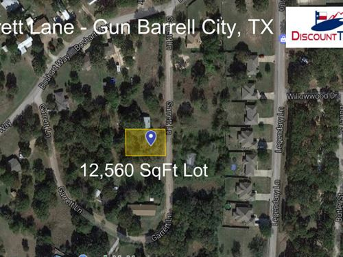 Gun Barrel City Neighborhood Lot : Gun Barrel City : Henderson County : Texas