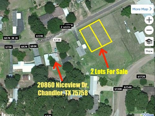 1/5 Acre Lot In Henderson County : Chandler : Henderson County : Texas