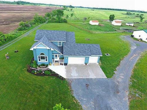 91 Acres Farmland Home Watertown Ny : Le Ray : Jefferson County : New York
