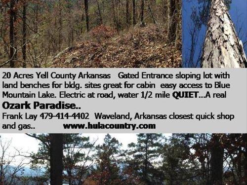 20 Acres / Views Of Blue Mountain : Havana : Yell County : Arkansas