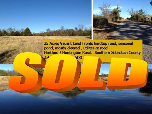 Sold 25 Acres South Sebastian Co. : Hartford : Sebastian County : Arkansas