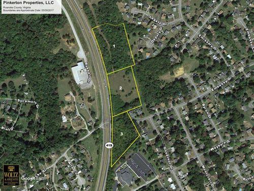Prime Commercial Land Salem Va : Salem : Roanoke County : Virginia