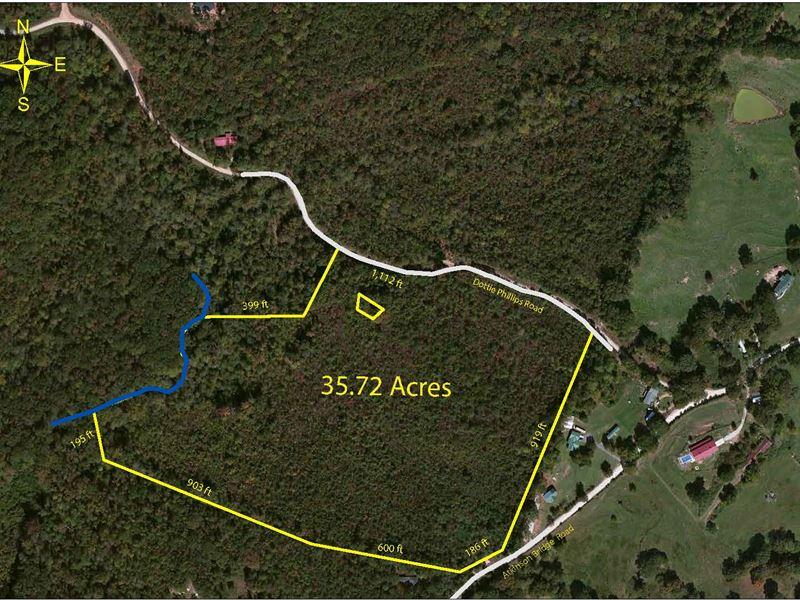 Wooded Acreage : Royston : Franklin County : Georgia