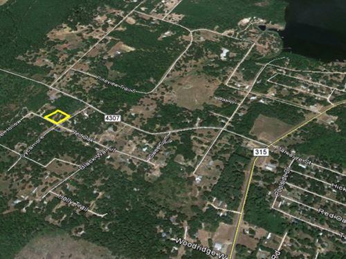Corner Lot Near Lake Palestine : Larue : Henderson County : Texas