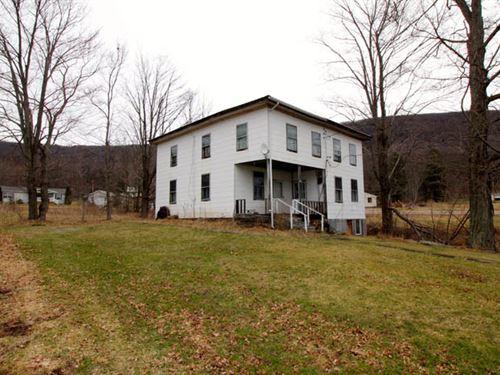 87+/- Acres Land, Home, Bank Barn : Muncy Valley : Sullivan County : Pennsylvania