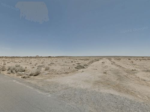 .18 Acres In California City, CA : California City : Kern County : California