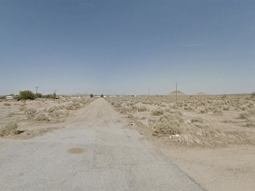 .22 Acres In California City, CA : California City : Kern County : California