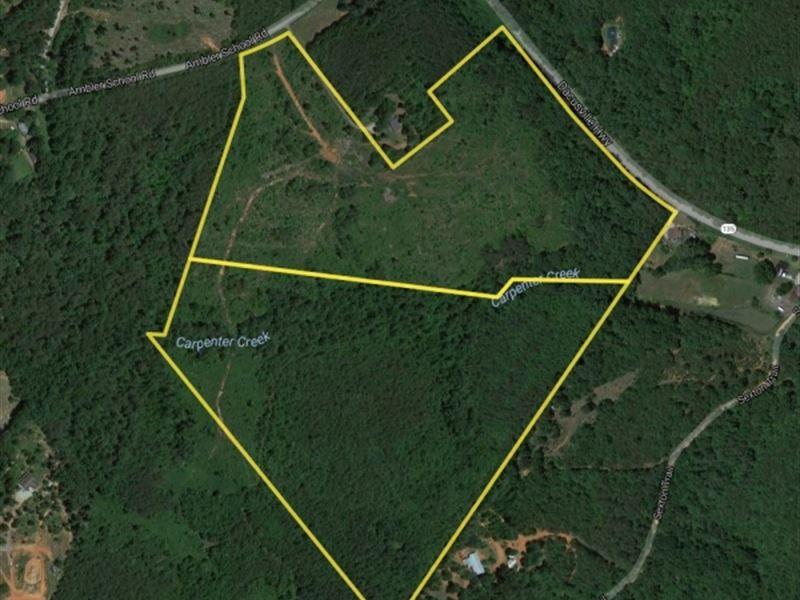 Reduced, 59 Acres Rolling Topog : Marietta : Greenville County : South Carolina