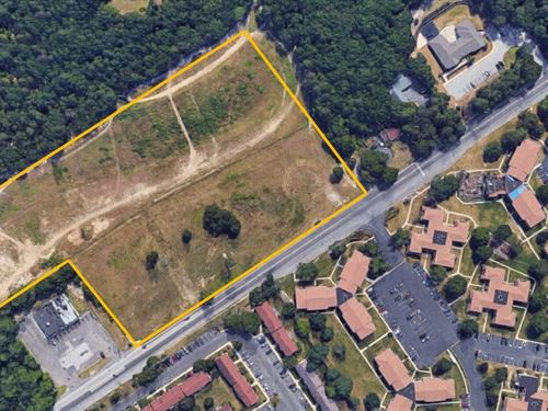 7.76+/- Acre Commercial Lot : Pine Hill : Camden County : New Jersey