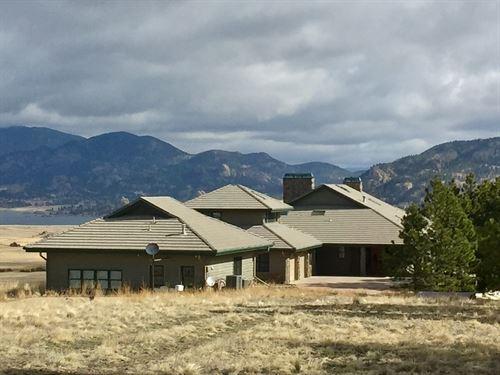 Eleven Mile Executive Home : Guffey : Park County : Colorado
