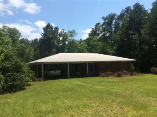 House With 9+/- Acres For Sale Linc : Bogue Chitto : Lincoln County : Mississippi