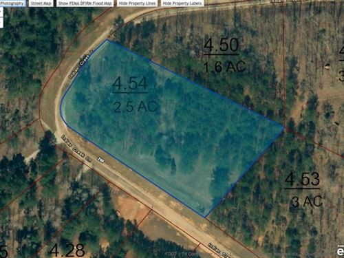 Lot 208 Is 2.5 Acre Water View Lot : Cedar Grove : Carroll County : Tennessee