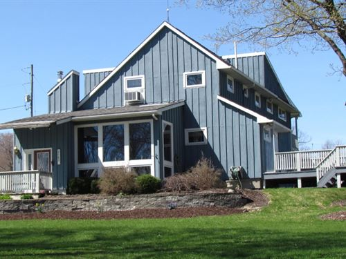 30 Ac Contemporary Home Cortland Ny : Lapeer : Cortland County : New York