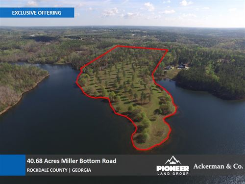 40.68 Acres - On 640 Acres Lake : Loganville : Rockdale County : Georgia